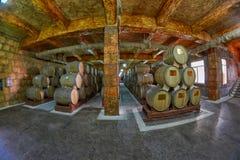 耶烈万,亚美尼亚- 2017年8月05日:诺伊(阿勒山)白兰地酒工厂v 库存照片