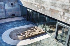 耶烈万,亚美尼亚- 2017年9月26日:Tsitsernakaberd -亚美尼亚种族灭绝纪念品和博物馆在耶烈万,亚美尼亚 在的看法 库存图片