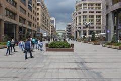 耶烈万, ARMENIA-MAY 02 :北部大道在2016年5月02日的耶烈万 库存图片
