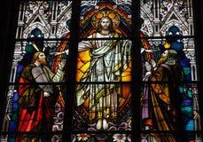 耶稣、摩西和艾赛尔 库存照片