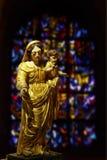 耶稣・玛丽母亲雕象 免版税库存图片