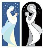 耶稣・玛丽贞女 皇族释放例证