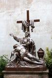 耶稣・玛丽雕象 免版税图库摄影