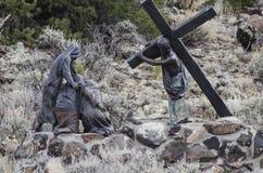 耶稣为我们死了 免版税图库摄影