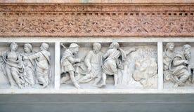耶稣伴随门徒的旅途 免版税库存图片