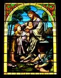 耶稣保佑孩子 免版税库存图片