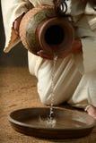 耶稣倾吐的水详细资料  库存图片