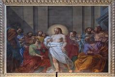 耶稣出现门徒的 库存图片