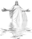 耶稣反映 免版税库存图片