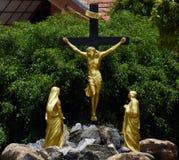 耶稣受难象在Negombo 库存图片