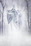 耶稣受难象森林天使 库存图片