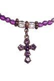 耶稣受难象紫色白色 库存图片