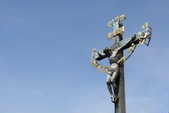 耶稣受难象 库存图片