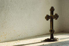 耶稣受难象 库存照片