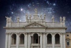 耶稣和传道者在星下 库存图片