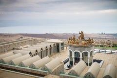 耶稣和十二位传道者,多穆斯Galilaeae雕象在以色列 免版税图库摄影
