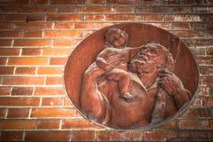 耶稣和圣约瑟夫象  免版税库存图片