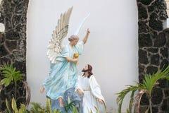 耶稣和天使 库存照片