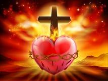 耶稣圣心基督徒例证 皇族释放例证