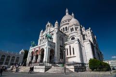 耶稣圣心或Sacre-Coeur的大教堂在巴黎,法国 免版税库存照片