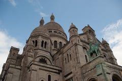 耶稣圣心教会在巴黎 图库摄影