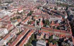 耶稣圣心的大教堂在萨格勒布 免版税库存照片