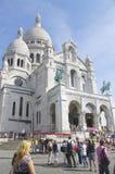 耶稣圣心的大教堂在巴黎 库存图片