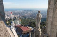 耶稣圣心-巴塞罗那的寺庙 图库摄影