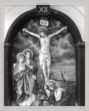 耶稣在十字架上钉死  库存照片