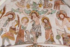 耶稣在十字架上钉死基督受难日的 免版税图库摄影