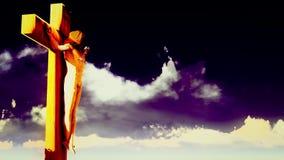 耶稣在十字架上钉死 股票视频