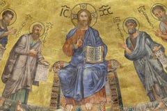 耶稣基督和传道者 库存图片