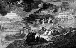 耶稣基督在十字架上钉死 向量例证
