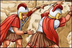 耶稣基督埋葬  向量例证