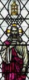 耶稣基督我是在彩色玻璃的光 免版税库存照片