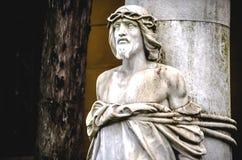 耶稣基督栓了一定 库存图片