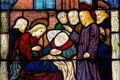 耶稣基督治疗一个人员 免版税库存照片