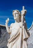 耶稣基督石头在公墓 图库摄影