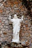 耶稣基督祝福雕象  免版税库存图片