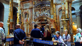 耶稣基督空的坟茔在耶路撒冷 免版税库存照片