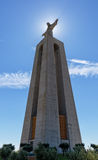 耶稣基督纪念碑克里斯多Rei里斯本在里斯本 库存照片