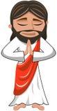 耶稣基督被隔绝的祷告祈祷 免版税库存图片