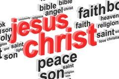 耶稣基督词云彩概念 图库摄影