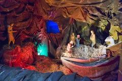 耶稣基督诞生小雕象 库存图片
