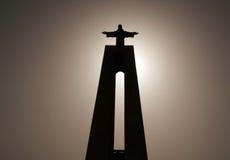 耶稣基督里斯本Potugal雕象  库存照片
