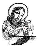 耶稣基督陶瓷工例证 向量例证