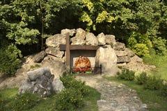 耶稣基督雕塑在Janow Lubelski 波兰 库存图片
