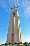耶稣基督雕象在里斯本 库存图片