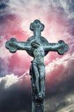 耶稣基督雕象迫害了 免版税图库摄影