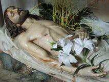 耶稣基督雕象  库存图片
